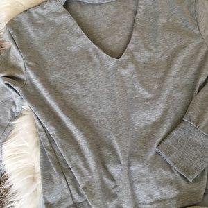 Tops - Casual choker shirt